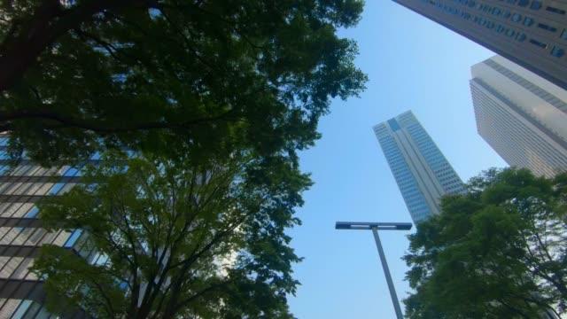 高層ビルのビジネス地区 - 緑 ビル点の映像素材/bロール