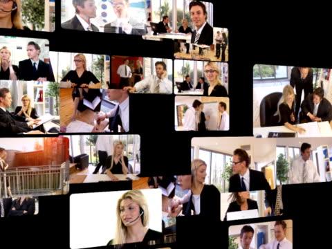 Business environment media screens video