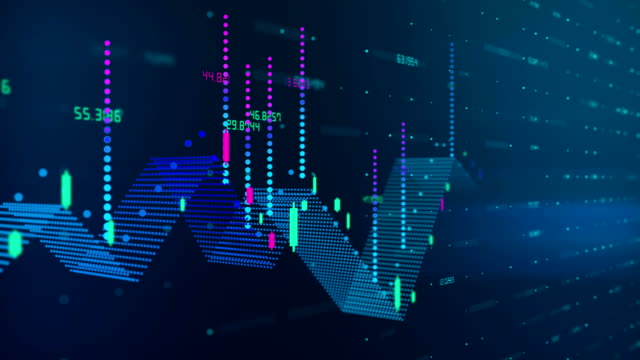 business financial chart - efficacia video stock e b–roll