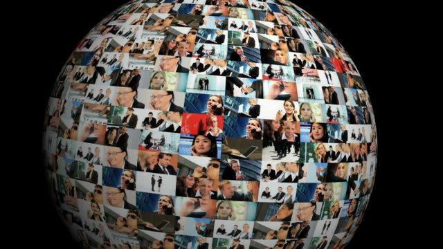 Business globe  multiple image stock videos & royalty-free footage