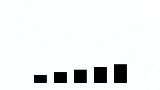 Business graph chart diagram video