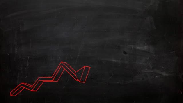 grafico di business - curiosità video stock e b–roll