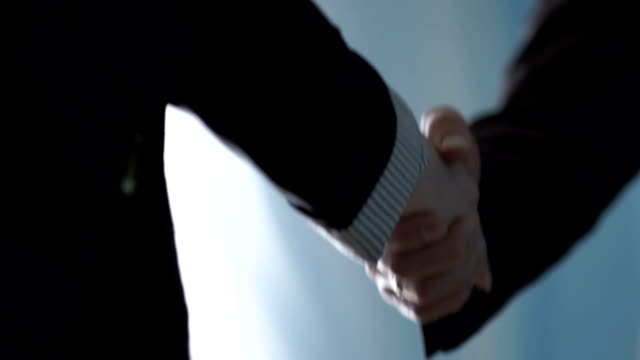 Business handshake. Business handshake and business people concept Business handshake. Business handshake and business people concept shaking stock videos & royalty-free footage
