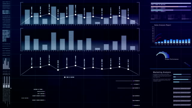 Business infographic screen display