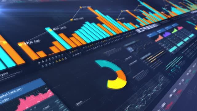 vídeos de stock, filmes e b-roll de mockup de apresentação de tela infográfica de negócios - criação digital