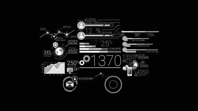 vídeos de stock e filmes b-roll de business infographics elements - shop icon