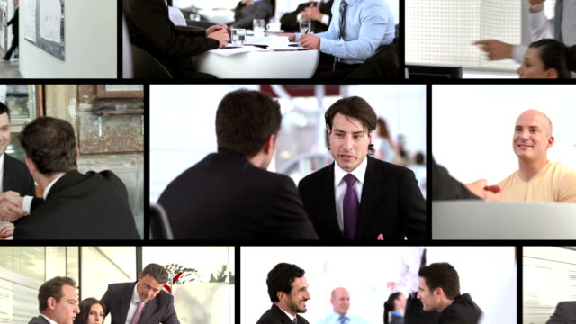 HD MONTAGE: Business Interaction video