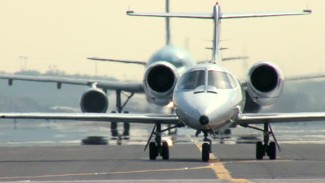 Business Jet Taxiing video