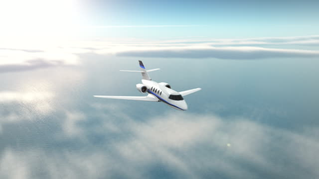 Business jet Business jet in the flight. private airplane stock videos & royalty-free footage