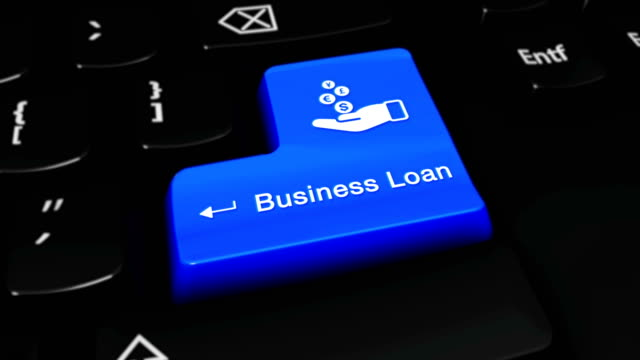 Business Loan Round Motion On Computer Keyboard Button.