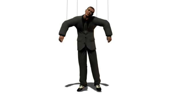 Business Man as Puppet  marionette stock videos & royalty-free footage