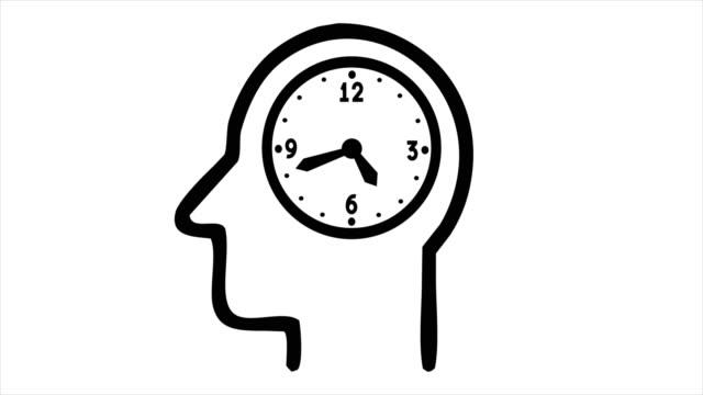 vídeos y material grabado en eventos de stock de hombre de negocios de 4k - reloj en la cabeza - loopable - survey icon
