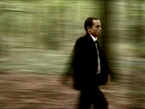 Business man lost in the forest video