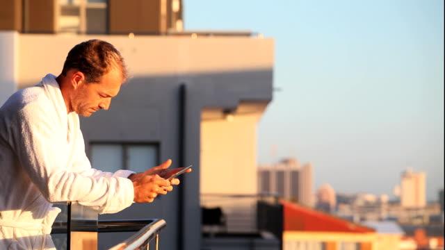 Business Man on Digital Tablet video