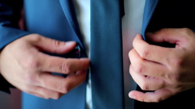 Business Man or Groom Dressing with a Black Suit video
