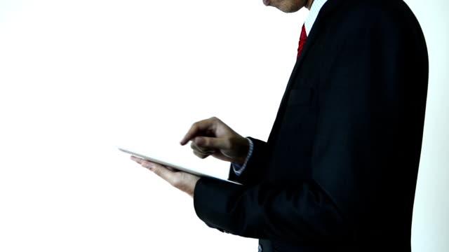 Business man using digital tablet Business man using digital tablet 30 39 years stock videos & royalty-free footage
