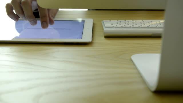 business man using digital tablet - 30 39 år bildbanksvideor och videomaterial från bakom kulisserna