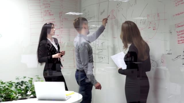 business meeting in the office video