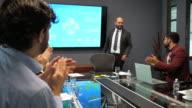 istock Business meeting - Latino mature businessman having presentation on board meeting 1163934542