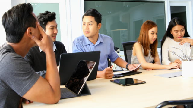 Business Meeting of Young Asian Start Up Entrepreneurs video
