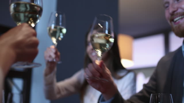 business möte toast - vitt vin glas bildbanksvideor och videomaterial från bakom kulisserna