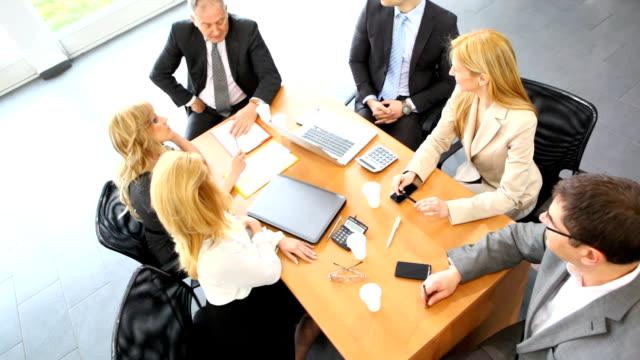 business meeting. - konferenztisch stock-videos und b-roll-filmmaterial