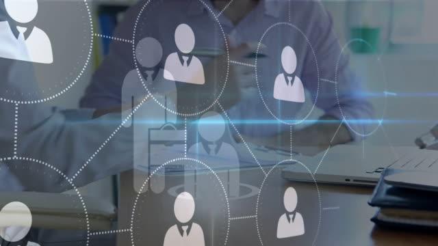商務男士和個人資料圖示 - 部分 個影片檔及 b 捲影像