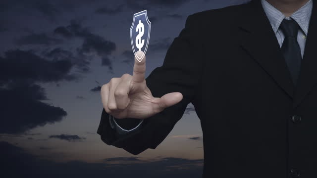 Business money insurance and protection concept