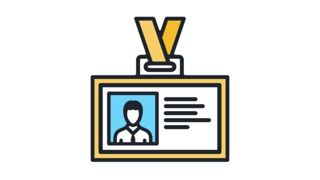 vídeos de stock e filmes b-roll de business networking line icon animation with alpha - badge