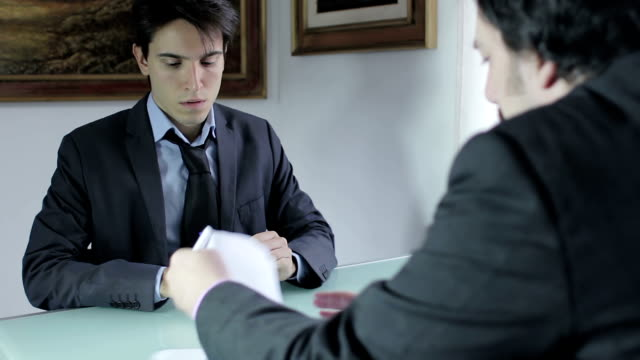 Business partners signing contract video