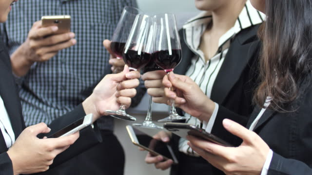 Business people Celebratory Toast video