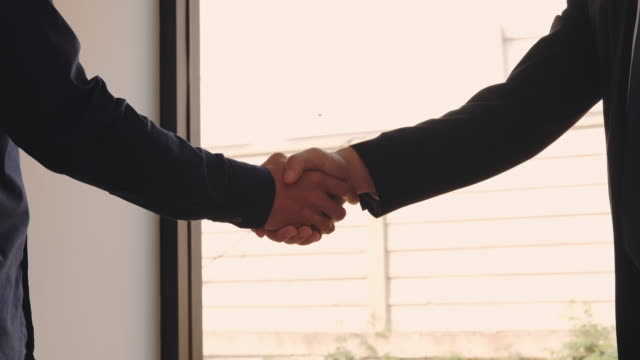 business people colleagues shaking hands meting planning strategy analysis concept - sud est asiatico video stock e b–roll