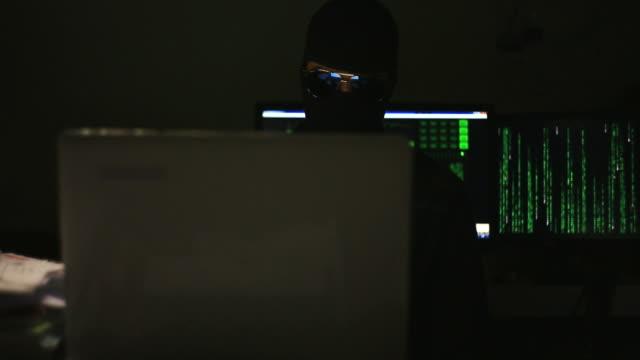 Las personas de negocios hacker - vídeo