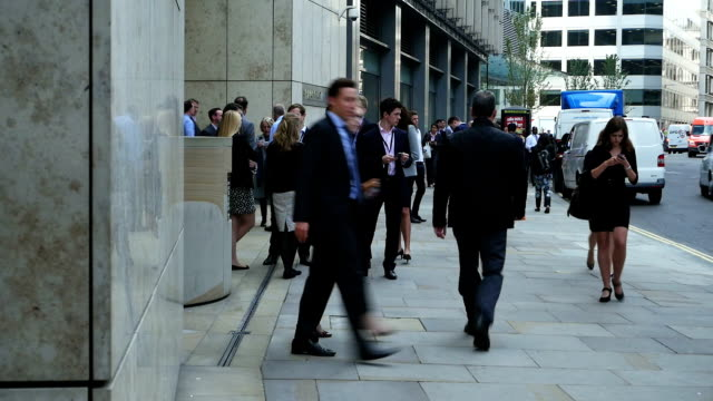 Business People In London Fenchurch Street video