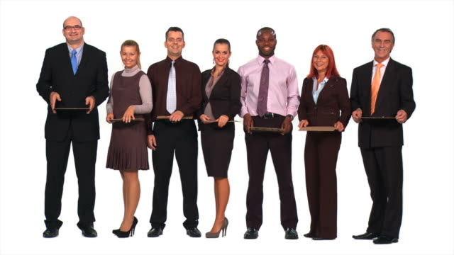 HD: Business People Looking For Work