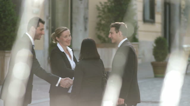 HD Business People Meeting On A Street video