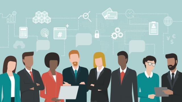 vídeos y material grabado en eventos de stock de empresarios compartiendo ideas - person icon