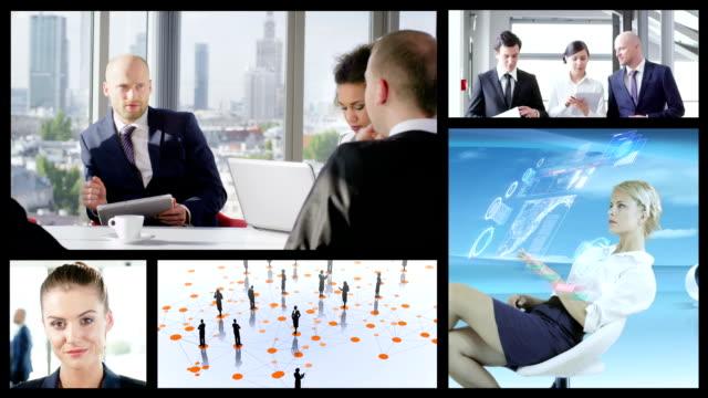 Business People.  Split Screen video