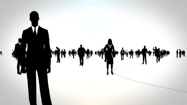 affari persone - distinguersi dalla massa video stock e b–roll