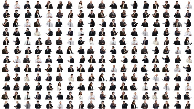 Business People a video wall with business people mosaic stock videos & royalty-free footage