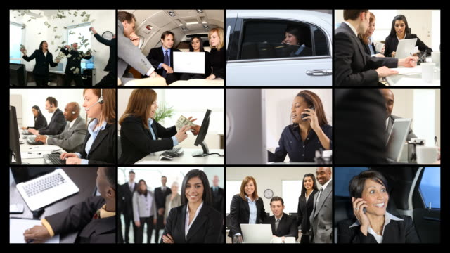 Business people, video montage video