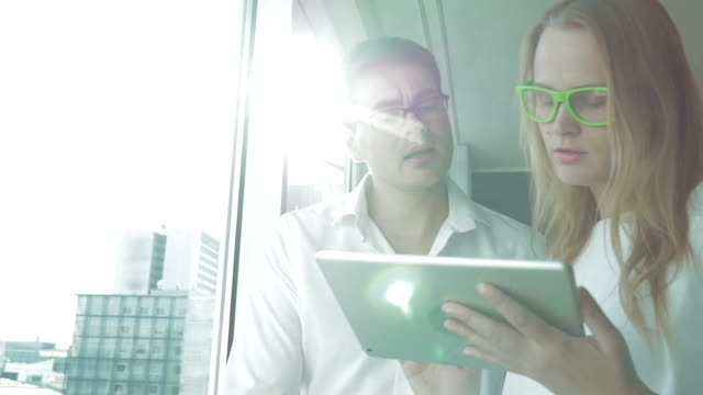 Business People Working with Tablet PC video