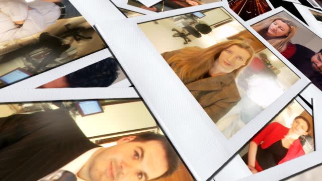stockvideo's en b-roll-footage met business photographs animated hd - polaroid