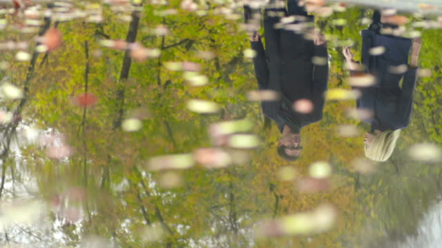 business reflections - uzun adımlarla yürümek stok videoları ve detay görüntü çekimi