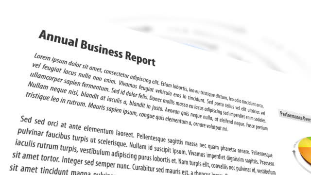 3D Business Report With Animated Background