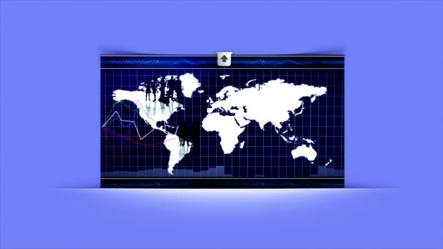 Business Room, Charts and Graphs, Loop, 4k