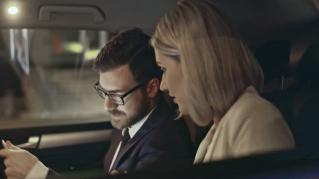 Business Talk in Back Seat video
