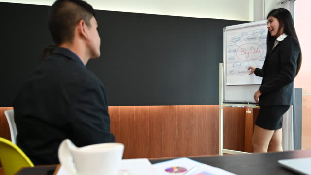 Business team discussing and meeting in office Business team discussing and meeting in office employee engagement stock videos & royalty-free footage