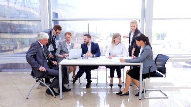 business team in office - ассистент стоковые видео и кадры b-roll