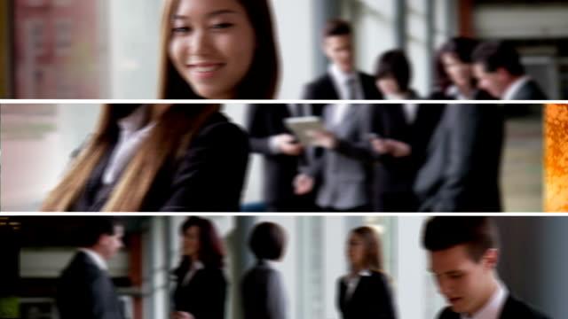business team montage - kommunikationssätt bildbanksvideor och videomaterial från bakom kulisserna